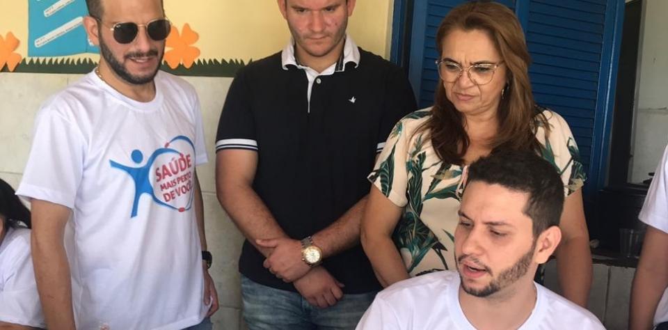 """Governo Municipal de Lagoa de Pedras, deu início ao projeto """"Saúde Mais Perto de Você""""."""