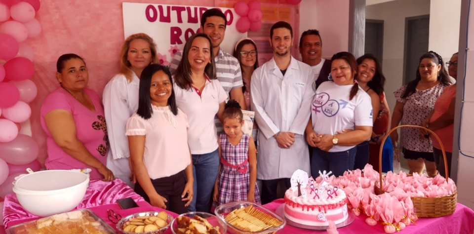 Lançamento da campanha do outubro rosa na unidade básica de saúde do conjunto projeto crescer.