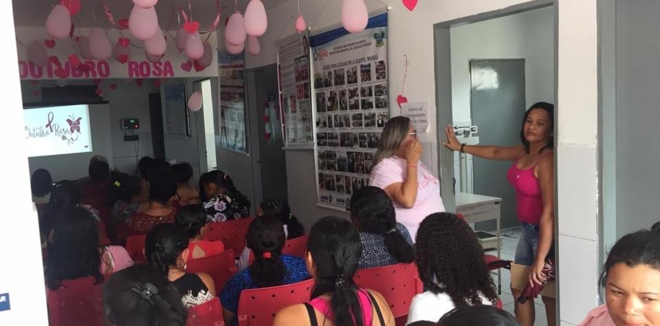 Ação do Outubro Rosa da III Equipe da Estratégia da Saúde da Família do Sítio Mandú