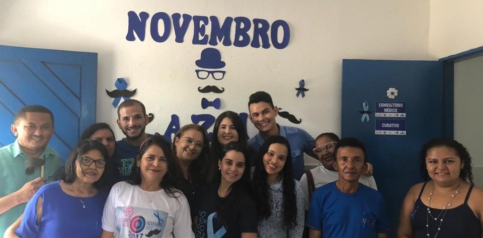 A Equipe da Estrategia de Saúde da família da Lagoa da Palha, realizou ação alusiva ao Novembro azul: mês mundial de combate ao câncer de próstata.
