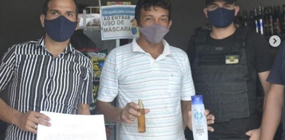 Prefeitura por meio da secretaria de saúde, realiza fiscalização e orienta sobre uso obrigatório de máscaras.
