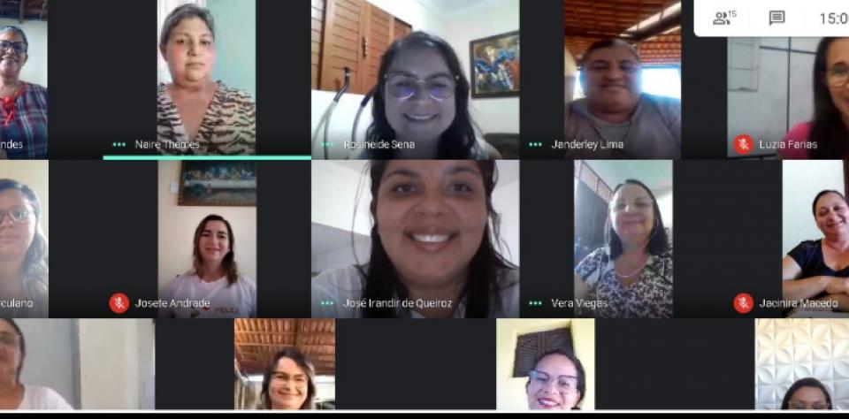 Covid19: Secretaria de Educação vem realizando várias ações: encontro semanal pela plataforma Zoom e Google meeting com os gestores e coordenadores